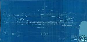U BOAT VII PLANS BLUEPRINTS RARE detail set WW2 Period WOLF PACK Kriegsmarine