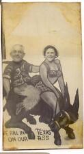 Funny We Are In Texas On Our Ass Donkey Man Woman 1940s Arcade/Photobooth Photo