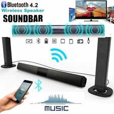 Barre de Son Détachable Sound Bar 20W BT Optique AUX pour TV PC Téléphone PS4