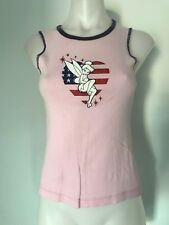 Disney Tinkerbell Shirt Womens Size Small Ladies Pink Singlet Sleeveless Tank