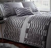 Silver Stone Grey Crushed Velvet MURRAY STONE Luxury Elegant King Size Duvet