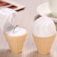 Cream Cute Jewelry Box Pendant Ring Display Gift Earring Display Box