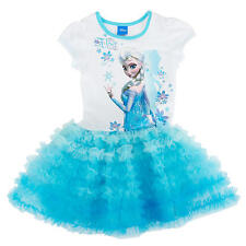 UK STOCK Frozen Tutu Dress  Elsa blue  ages 1 2 3 4 5 6 years girls
