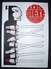 SEVEN SAMURAI / Signed CUBAN Screen-printed Poster for Kurosawa Movie JAPAN CUBA