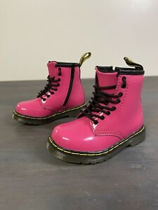Toddler Dr. Martens Doc Brooklee Boots Size 7 Pink Side Zip