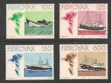 Faroe Islands #24-27 (A8) VF MNH - 1977 100o to 600o Faroese Fishing Vessels