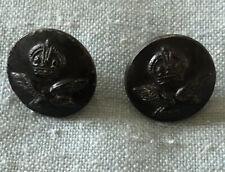 Antique Buttons Black X 2