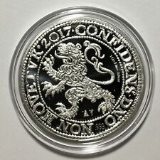 2017 Netherlands Royal Dutch Lion Dollar 1oz 999 Silver BU Coin 25K IN CAPSULE