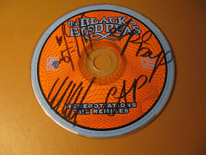 AUTOGRAPHED BLACK EYED PEAS THE RENEGOTIATIONS REMIXES CD  FERGIE WILL.I.AM