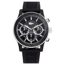 neu lacoste 2000801 schwarz haltegummi charlotte watch - 2 jahr garantie