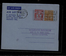 Singapore  air letter sheet used double embossed          MS1014