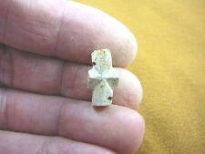 "(CR592-57) 1/2"" PETITE Fairy Stone CHRISTIAN CROSS Staurolite Crystal MATRIX"