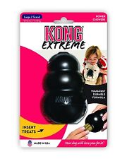 Kong Dog Toy .... Kongs Durable Black Rubber Play Fetch Chew Toy - eXtreme Large