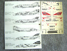 "F-4B/J PHANTOM ""3 USN/VF-33/31/84 JOLLY ROGERS"" MICROSCALE DECALS 1/72"