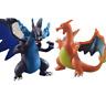 2pcs Pokemon Mega Evolution X /Y Charizard Figure Toy
