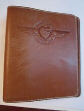 """VINTAGE SOUTHWEST AIRLINES LEATHER 7 RING BINDER - 9"""" X 8"""" - NICE - TUB PA"""