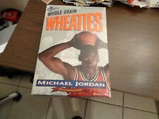 FULL  WHEATIES  CEREAL  BOX  JORDAN  FRONT  & BACK