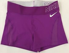 Nike Women Pro Printed Short Purple 543 Nwt 855250 Size L