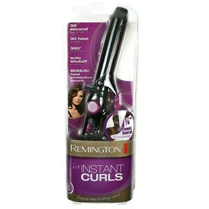 """Remington Curling Iron For Instant Curls 1 1/4"""" Ceramic Barrel New w/ Heat Pouch"""
