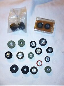 Vintage Mixed lot of 19 1/32 scale Slot Car Wheels Tires