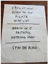 Pearl Jam setlist from Monkey Wrench Radio 1998 + coa! Eddie Vedder Jeff Ament