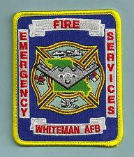 WHITEMAN AIR FORCE BASE MISSOURI FIRE RESCUE PATCH