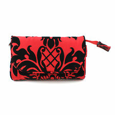 Travel Clutch Bag Danielle Cosmetic Makeup Pouch Organizer Ladies Red Floral