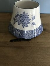 Home Interiors Blue & White Floral Ceramic Candle Shade Jar Candle