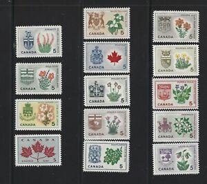 Canada 1964 Floral Emblems & Coats of Arms MNH Set