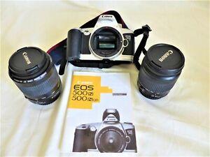 Canon EOS 500N Kamera + EF 28-80mm + EF 80-200mm Objektive