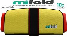 """Mifold Grab-and-Go Car Booster Seat - Yellow """"Mint Condition"""""""