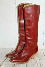 Vtg FRYE American Classic Riding Boots Tall/Knee High Burgundy Women's Sz 8 B