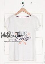 Womens Matilda Jane white Hello Lovely Tee T Shirt top size S Small EUC