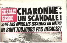 Charlie-Hebdo N° 394 ,1978,Charonne 16 ans après. 18 pages.