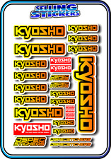 KYOSHO MODEL RC CAR DRONE BOAT BUGGY MINI Z STICKERS DECALS ROBOT R/C YEL/ORA B