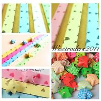 90 Folding Paper Origami Lucky Star Paper Strip Ribbons Craft DIY Best Wish Gift
