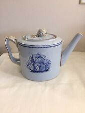 SPODE TRADE WINDS BLUE TEAPOT