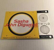Rare Vintage 90s Club Flyer: SASHA & DIGWEED @ TWILO NYC flyer invite