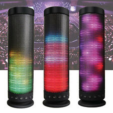 RGB Flashing LED Light Pulse Stereo Wireless Bluetooth Speaker W/ Microphone SD