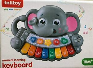 Elephant Musical Learning Keyboard Piano 18+ Months