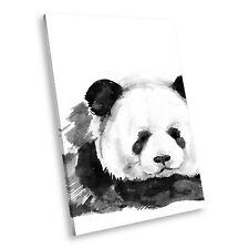 A759 Black White Animal Portrait Canvas Picture Print Wall Art Painted Panda