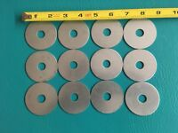 "12 Steel Flat Washers 2 1/8"" OD, 1/2"" ID, 1/16"" Thick"