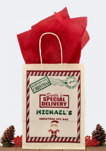 Personalised Christmas Gift Bag Special Delivery Xmas Eve Bag & Tissue Paper