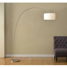 Artiva USA SK-3939ST Adelina Arched Brushed Steel Floor Lamp; Office; Home; Room