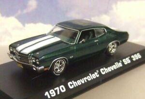 GREENLIGHT 1/43 JOHN WICK'S 1970 CHEVROLET CHEVY CHEVELLE SS 396 MET GREEN 86541