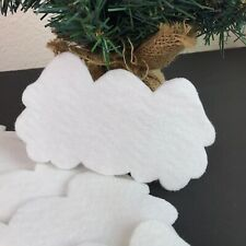 "Natural White Felt Batting Angel 5 1/2"" Wings (8 pc) Christmas Craft Supply Doll"