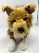 "Douglas The Cuddle Toy Brown & White Collie Dog Lassie Stuffed Animal Plush 16"""