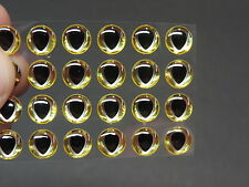 "24 TEARDROP GOLD SILVER  3D Soft Molded 5/16""  8mm  Eyes Fly Tying Lures"