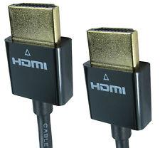 1M SLIM HDMI High Speed Cable Gold Plug 3D TV Blu Ray Sky 3.6mm Width