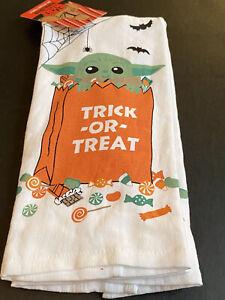 Star Wars Mandalorian Grogu Baby Yoda Trick or Treat Dish/Hand Towel 2-Pack NWT